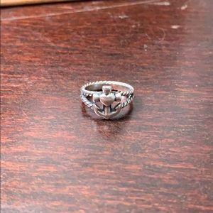 James Avery Anchor & Heart Ring